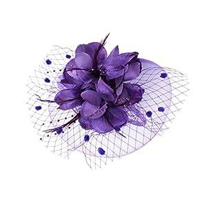 Gazechimp Damen Hochzeit Haar Clip Hut haarschmuck blumen Fascinator Stirnband