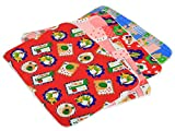 #8: Kuber Industries™ Baby Waterproof Sheets Plastic & Cotton Foam Cushioned Sleeping & Changing Mat - Set of 4