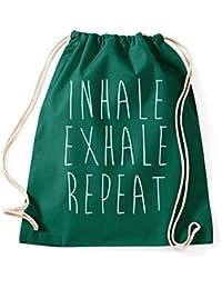 Inhale Exhale Repeat Turnbeutel Yoga Pilates Sportbeutel Jutebeutel Rucksack