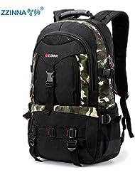SunBao La mochila bolsa de viaje de gran capacidad casual lona bolsas escalada juvenil hombros,