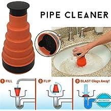 Domitlar - Herramienta para trituradora de tuberías de Cocina con desatascador de tuberías de Inodoro Multifuncional