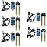ARCELI 5 unids higrómetro de Suelo detección de Humedad Sensor de Agua módulo YL-69 Sensor y módulo HC-38 para Arduino