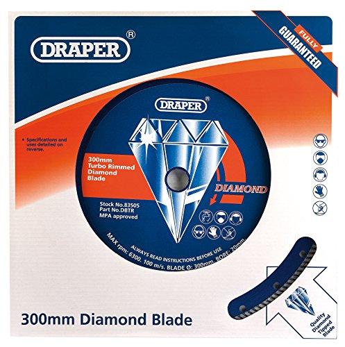 Turbo Rim Diamond Blade (DRAPER Tools dbtr kontinuierliche Turbo Rim Diamond Blade, blau, 300x 22,2mm)