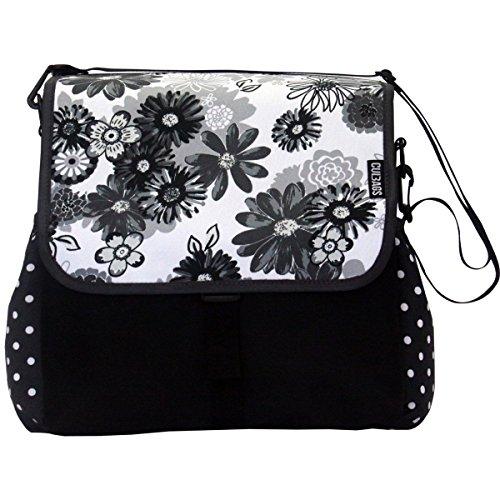 C-BAGS BETSIE single MEADOW & DOTS Gepäckträger Fahrradtasche Tasche verschiedene Muster black-grey