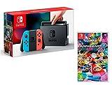 Nintendo Switch console Rouge Néon/Bleu Néon 32Go + Mario Kart 8 Deluxe