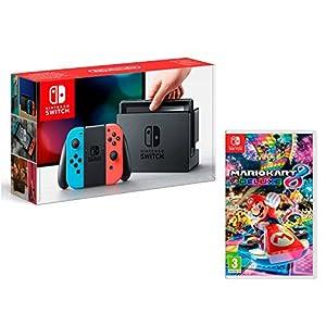Nintendo Switch Konsole rot Neon/blau neon 32GB + Mario Kart 8Deluxe