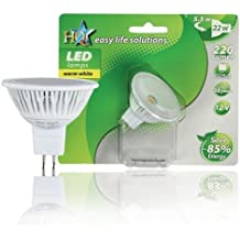 HQ L-GU53-01 energy-saving lamp - Lámpara LED (A, Blanco cálido, Color blanco)