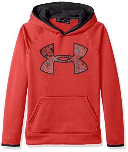 Under Armour Jungen AF Big Logo Hoody Oberteil, Red, YXL - Coldgear Hoody
