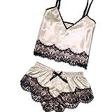 Bfmyxgs Frauen Sexy Dessous Spitze Bowknot Nachthemd Unterwäsche Mode Satin Sling Nachtwäsche Stilvolle Höschen Eingewickelt Brust Charmante Unterwäsche