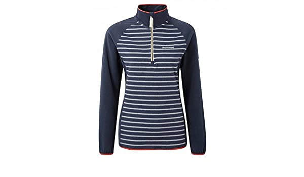 Soft Navy Size  18 Womens Craghoppers  TILLE Half Zip Striped  Microfleece