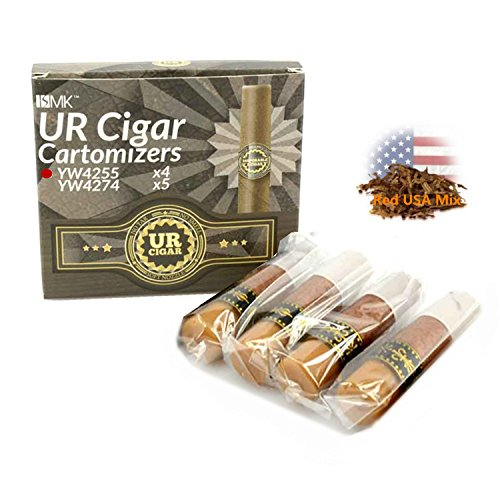 Cartomizer (pre-filled) 4 pack (flavor: Red USA mix) for ISMK UR-CIGAR (no Nicotine and free tobacco)