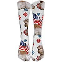 Cocker Spaniel With FlagKnee High Graduated Compression Socks For Women And Men - Best Medical, Nursing, Travel... preisvergleich bei billige-tabletten.eu