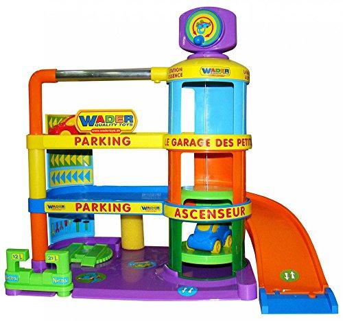 Wader Spielzeuggarage Baby Garage Autogarage Spielzeug Parkhaus Spielgarage NEU