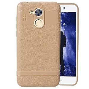 FNBK Huawei 6A Hülle, Soft Silikon Hülle Ultra Dünn [Kratzfest] Bumper Case TPU Handyhülle Schutzhülle Handy Hülle Tasche Kompatibel mit Huawei 6A,Beige