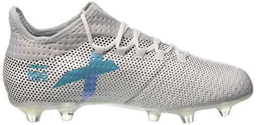 adidas X 17.2 FG, Chaussures de Football Homme Multicolore (Ftwr White/energy Blue /clear Grey )