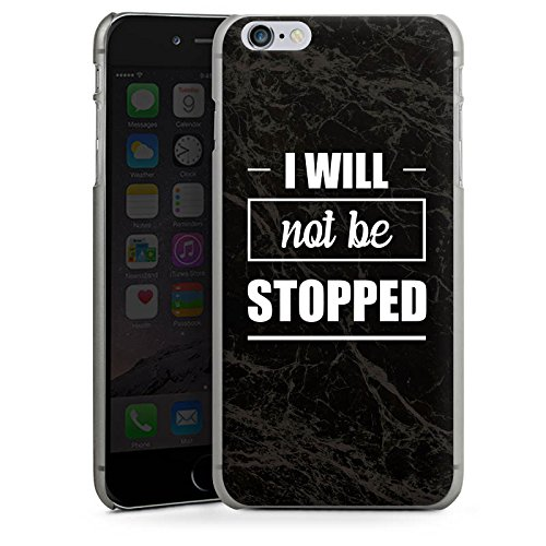 Apple iPhone X Silikon Hülle Case Schutzhülle Stop Workout Fitness Hard Case anthrazit-klar