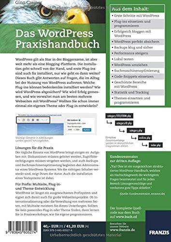 Das WordPress Praxishandbuch: Der Bestseller, nun fur WordPress 4.6 (4., aktualisierte Auflage) - 2
