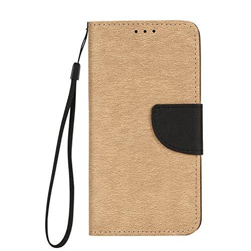 Samsung Galaxy J5 Prime Hülle, Chreey [Einfach Elegant] PU Lederhülle Magnetische Flip Case Brieftasche Handytasche Matt Schutzhülle mit Standfunktion Kartenfächer [Holz Farbe]