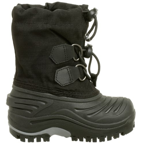 Sorel Super Trooper NC1518 Jungen Schneestiefel Schwarz (Black, Light Grey 011)
