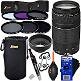 Canon EF 75-300mm F/4-5.6 III Telephoto Zoom Lens For Canon SLR Cameras (International Version) + ND Filters ND2, ND4, ND8 + 11pc Bundle Deluxe Accessory Kit W/HeroFiber Cleaning Cloth