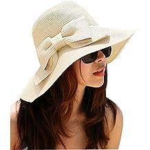 VI. yo Lady sol sombrero ala ancha color sólido elegante paja playa Cap suave paja playa Cap mujeres Hollow Out ropa de verano paja sombrero de sol para viaje