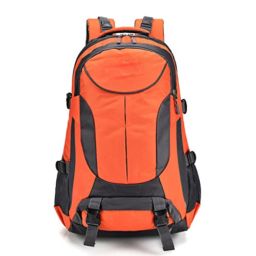 Nylon Camping Wandern Rucksack Tasche Wasserdicht Rainproof Cover,Blue Orange