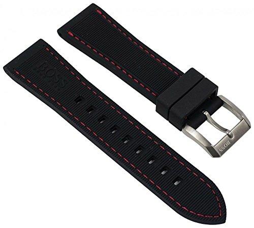 Hugo Boss Uhrenarmband Silikon schwarz 22mm passend zu 1513185 HB.266.1.34.2770