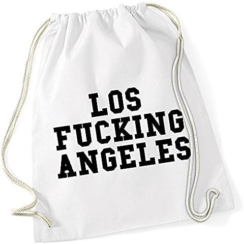 Los Fucking Angeles Borsa De Gym Bianco Certified