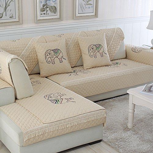 QINQIN Stripe Sofabezug,Anti-rutsch-Baumwolle sofakissen Sofa-Überwürfe Einfache Moderne 1 stück Sofa Handtuch -D 70x180cm(28x71inch)