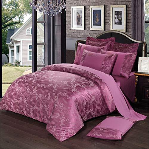 lumen Jacquard 4 Stücke Königin König Bettwäsche-Sets Luxus Seide Quilt Bettbezüge Qualität Bettwäsche style21 Queen 4pcs ()