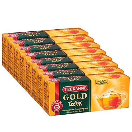 Teekanne Gold TeeFix Kannenportion, 25 Kannen 8er Pack