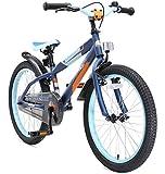 BIKESTAR Premium Sicherheits Kinderfahrrad 20 Zoll für Mädchen und Jungen ab 6 Jahre ★ 20er Kinderrad Mountainbike ★ Fahrrad für Kinder Blau & Orange