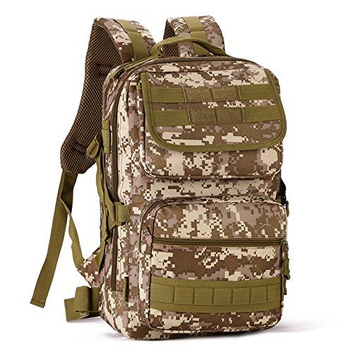 dohot 25L Wasserdicht Military Army Patrol MOLLE Assault Pack Taktischer Rucksack Tasche für Wandern Camping Desert Digital