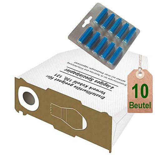 10Sacchetti per aspirapolvere in microfibra bianchi e