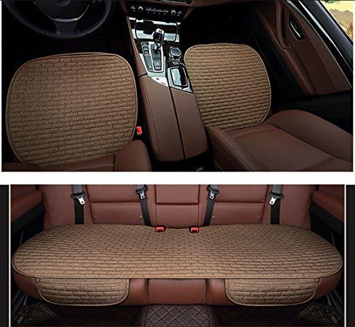 Dreiteiliges, rutschfestes Leinenkissen, Sitzzubehör für Autositze, einteiliges Non-Back Cool Pad, Vier-Jahreszeiten-Kissen.
