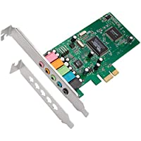 QNINE PCIe Sound Card for PC Windows 10, PCI Express Desktop Sound Adapter with Low Profile Bracket, 3D Stereo PCIe Audio Card, VIA 1723 Chip 32 or 64 Bit Sound Card for Windows XP 7 8