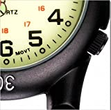 Klox Black Clip On Carabiner Metal Fob Watch Luminous Dial Paramedic Doctor Nurse Unisex Men Women Bild 3