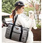 GossipBoy Stripe Pet Airline Approved Outdoor Travel Carrier Portable Dog Cat Handbag Oxford Kitten Puppy Tote Bag with… 12