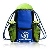 Nofonda Fußball Rucksack mit Schuhfach Ballbeutel Kordelzug Sporttasche Multifunktion Training Tasche - für Schuhe Wasserflaschen Schützer