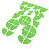 Finest-Folia 4D Carbonfolie Emblem Ecken Aufkleber (Grün)