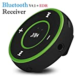 Colorful Wireless Bluetooth Adapter Receiver, Wireless Bluetooth 3,5 mm Audio Stereo Adapter, Auto AUX Home Musik Receiver Dongle,Grün