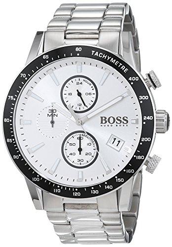 Hugo BOSS Herren Chronograph Quarz Uhr mit Edelstahl Armband 1513511