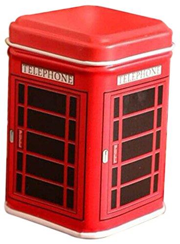 GogoForward, Teedose / Blechdose im Stil einer Telefonzelle