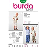 Burda Children's Easy Patron de Couture Pantalon & 9793–Short :  2–6 ans