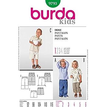 Burda Kinder Schnittmuster 9388 Abziehleder Shorts & Pants + Gratis ...