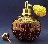 Cristal Ullmann Paris Pulverizador de borlas de Plomo en überfang Cobre rubí para selbstabfüllen, Borla Oro Corta–Cup 822–4