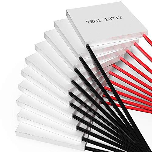 Peltierelement Thermoelectric Module Peltier TEC 12V [TEC1-12712] [120W] [10 Stück] | Thermoelektrische Kühlung Element Chiller Heatsink Kühlkoerper Kühlbox Generator Cooler