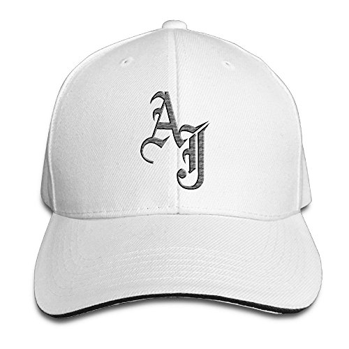 Adjustable Snapback Peaked Cap Baseball Hats White ()