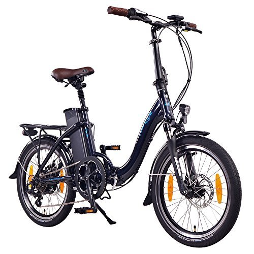 NCM Paris 20 Zoll E-Bike, E-Faltrad, 36V 15Ah 540Wh Akku, 250W Das-Kit Heck Motor, mechanische Scheibenbremsen, dunkel blau