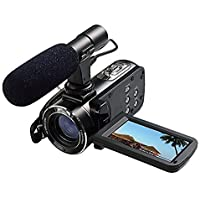 Digital Video Camcorder,Powpro PP-HDV-Z20 1080P 24MP FHD WIFI Camcorder 3.0 Inch LCD Remote Control with Microphone Video Camera